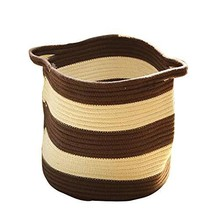 Black Temptation Cotton Rope Weaving Storage Basket Household Laundry Ba... - £24.87 GBP