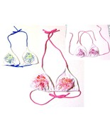 Sz XS-XL - F&F Florence & Fred Bikini Embroidered Halter Swimsuit Tops - $17.99