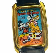 Mickey Mouse watch vtg Walt Disney Japan disneyland Pluto Dog show Lorus... - $49.45