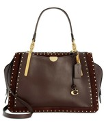 NWT Coach 31020 Mixed Leather Dreamer 36 Satchel/Shoulder Bag in Oxblood - $479.00