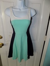 Express Multi-Color Green  Blue Sleeveless Casual Tea Dress Size S Women's - $20.28