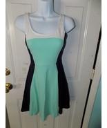 Express Multi-Color Green  Blue Sleeveless Casual Tea Dress Size S Women's - $21.06