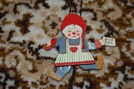 Old Vintage Sweden Swedish Girl God Jul Wooden String Puppet Handmade Ra... - $67.50