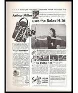 Bolex Camera 1950 Ad Archery Academy Award Winner Arthur Miller - $14.99