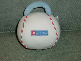 CARTERS ALL STAR BABY BOY BASEBALL VELOUR STUFFED PLUSH RATTLE WITH HAND... - $13.45