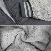 Vertical Sport Men's Sherpa Fleece Lined Two Tone Zip Up Hoodie Jacket image 11