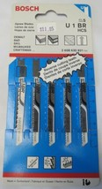 "Bosch U1BR 3-1/8"" x 10 TPI Wood Cutting U-Shank Jigsaw Blades 5 Pack Swiss - $2.97"