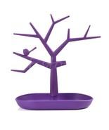 Purple Plastic Necklace Holder Tree Stand Accessories Organizer Jewelry ... - $7.91