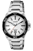 Citizen Men's Eco-drive AP1190-88A Silver Stainless-Steel Watch NWT