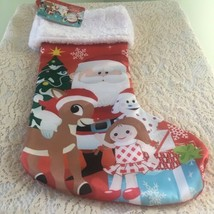 """Rudolph the Red Nosed Reindeer Holiday Stocking 18"""" Xmas Gift Misfit Toy... - $24.58"""