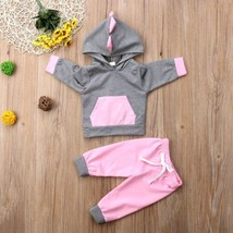 Casual Newborn Baby Girls clothes cotton 3D Dinosaur Tops Sweatshirt+ Pa... - $9.99