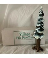 Department 56 Pole Pine Tree w Base Christmas Village Accessory 55298 10... - $14.84