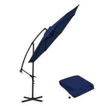 10 Ft Cantilever Patio Umbrellas, Blue Outdoor Water Resistant Offset Um... - £104.22 GBP