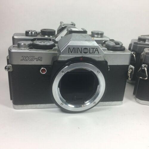 Minolta Camera Lot X-370 x2, Minolta SR-7, Minolta XG-4 Parts Or Repair