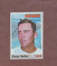 1970 Topps # 491 Graig Nettles Cleveland Indians Nice Card - $3.99