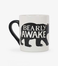 Hatley Funny Ceramic Coffee Mug CLASSIC BEARLY AWAKE 14 oz. Black Bear - ₹1,418.99 INR