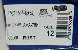 I Love Yo Kids AVA 78K Girls Fringe Boot Rust Silver Studded Size 12 image 9