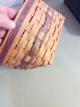 Longaberger May Basket - 1997 - Leather Strap Handles image 4