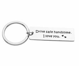 Eilygen Drive Safe Keychain Gift for Trucker Husband Boyfriend I Love Yo... - $12.81