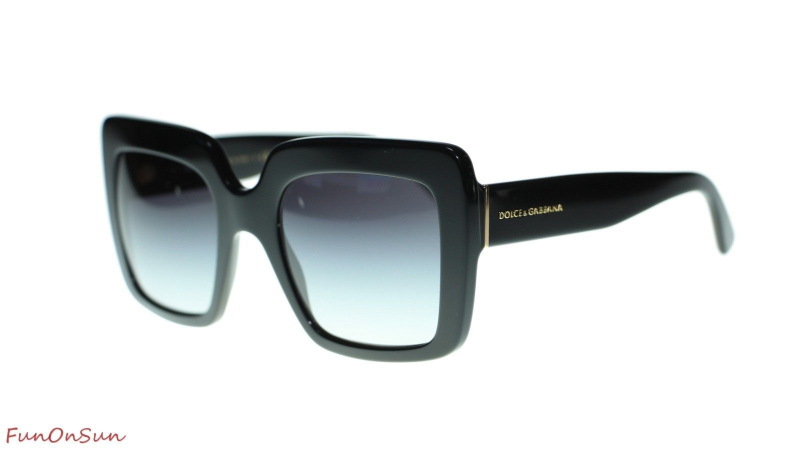 c45ebd329c9 10. 10. Previous. Dolce Gabbana Women Sunglasses DG4310 5018G Black Grey  Gradient Lens 52mm