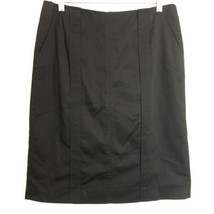 calvin klein black stretch career pencil skirt size 6 - $14.84