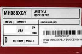 New MH988XGY Fresh 988 Mid Foam Balance SZ Men's 10 5 Cut Grey q4qS6Cgxrn