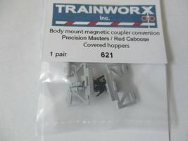 Trainworx Stock # 621 Body Mount Magnetic Coupler Covered Hopper N-Scale image 2