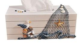 PANDA SUPERSTORE Mediterranean Style Creative Napkin Box/Tissue Box/Paper Towel