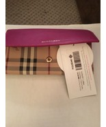 Genuine Burberry Horseferry Check and Leather Continental Women's Wallet... - $250.00