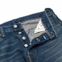 Levi's 501 Men's Original Fit Straight Leg Jeans Button Fly Blue 501-2166 image 3