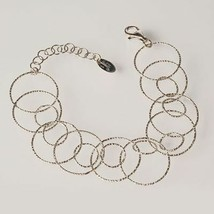 Silver Bracelet 925 Rhodium to Discs Worked by Maria Ielpo Made in Italy - $112.68