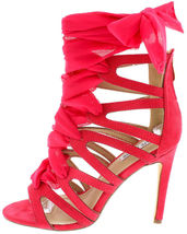 ribbon Heels High H138 Peep Colorful wedding Stiletto Up Fancy prom toe NEW Lace PSqYgP