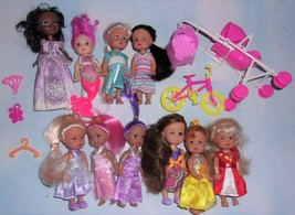 Lot of 10 Barbie Kelly Doll Clones w/Clothes & Toys - $14.50