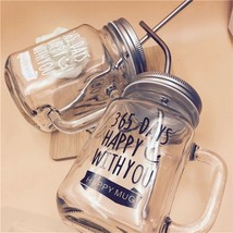 Mason Jar Mugs Classic Insulated Tumbler Water Bottle Metal Lid with Straw - $14.11+