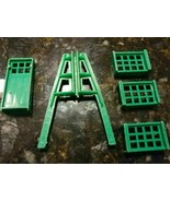 Vtg Service Gas Station Store Parts Girder Truss Crates Green Plastic Ma... - $32.24