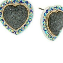 BETSEY JOHNSON BETSEY VILLA BLUE HEART STUD EARRINGS NWT - $19.35