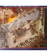 NOS Zriegel Infant Baby Christmas Tapestry  Blanket Teddy Bear Sleigh Op... - $34.50
