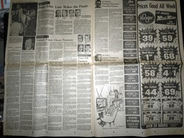 Vintage The Grand Rapids Press Ford Left In Dark & Primary Aug 7 1974 image 2