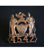 New York City, Transit Police Hat badge, Antique Badge New York Badge #4542 - $98.58