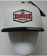 Volcom Cresticle Hat Snapback Stone Made Flexfit Mens One Size Cap White - $23.99