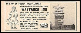 Wayfarer Inn Motel Ad Rt66 St Louis Missouri 1964 Roadside Ad Route 66 T... - $10.99