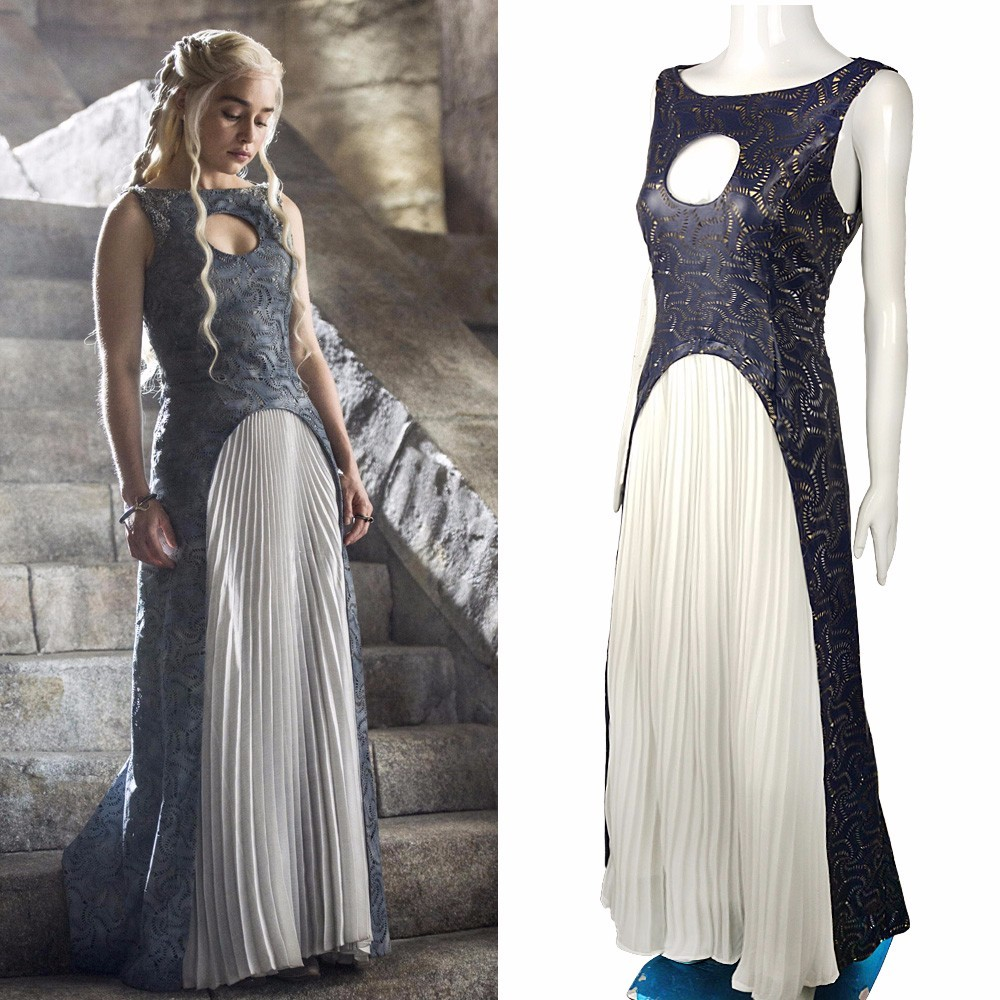 The Game Of Thrones Dress Cosplay Daenerys Targaryen Qarth Dress Leather Costume