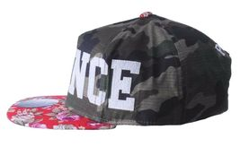Official Crown of Laurel Peaceful Violence Camo Flowers Strapback Baseball Hat image 5