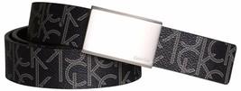 Calvin Klein Men's Reversible Premium CK Logo 35mm Harness Belt Black 7511296