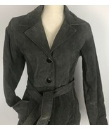 Highway Women's Leather Jacket Size S Gray Suede Belted Coat New - $44.54