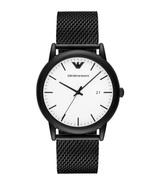 Emporio Armani AR11046 Black Minimalist Steel Men's Watch - $137.89