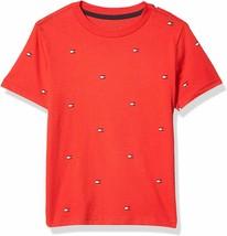 Tommy Hilfiger Boys High Risk Red Flag Print Crew Neck T-Shirt 7 - $15.83