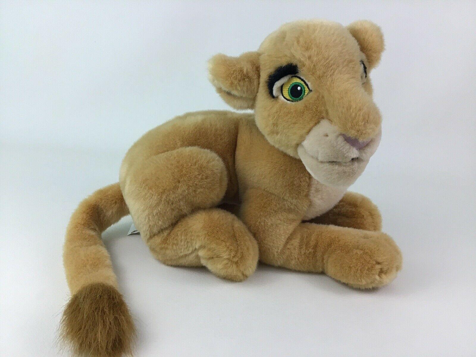 "Disney Store The Lion King Laying Young Nala Lioness 14"" Plush Stuffed Toy"