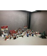 60+ Lemax Village Collection Whole Village People Signs Buildings Trees ... - $143.33