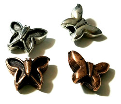 BUTTERFLY FINE PEWTER BEAD image 2